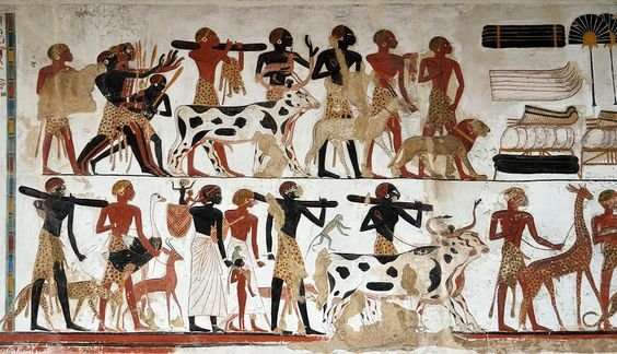 Egyptian Wall Art | Egyptian Wall Painting Of Temple Of Beit El-wali Photograph