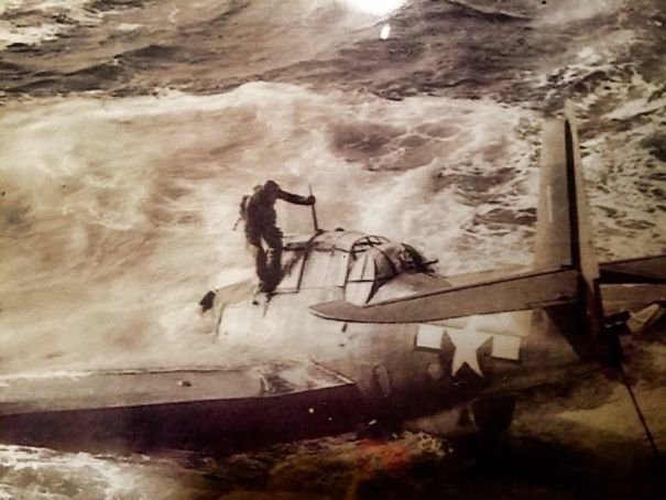 Photo Of My Grandfather Exiting His Plane After Getting Shot Down