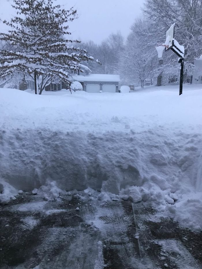 "We Live In Erie, Pa, And Got 53"" Of Snow In 30 Hours"