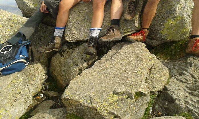 A Stranger Offered To Take A Photo Of Us On The Summit Of Tryfan. Good Work Sir!