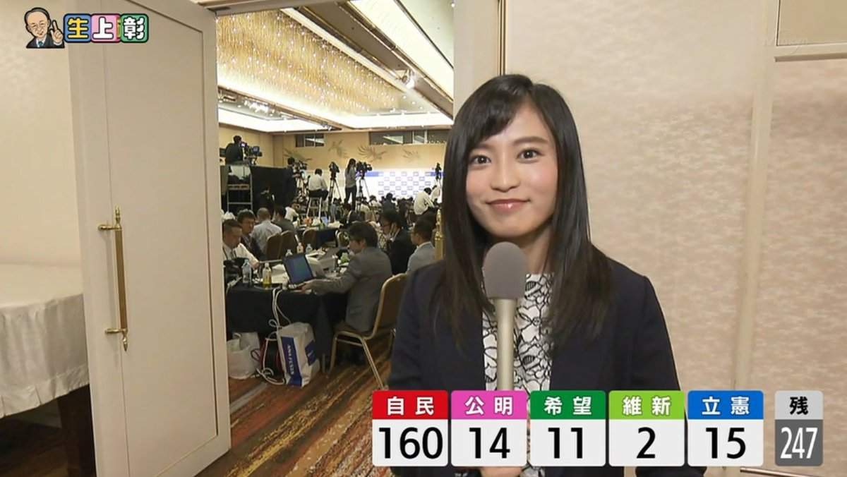 Image result for 小島瑠璃子 池上彰の総選挙ライブ