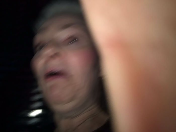 The Other Night We Asked A Lady To Take A Photo Of Us, But The Camera Was The Wrong Way And She Took This Masterpiece
