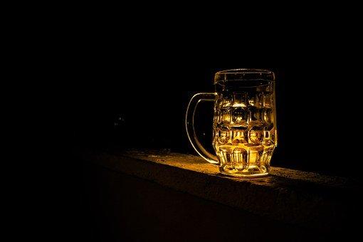 맥주, 파인트, 컵, 알코올