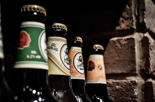 맥주, 병, 와인, 가 게, 알코올, 병 뚜껑