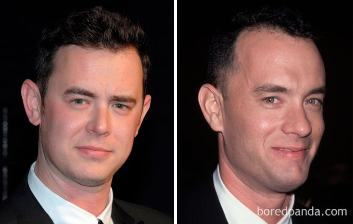 Colin Hanks And Tom Hanks In Their 30s