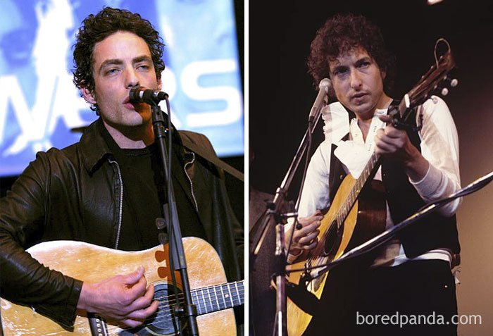Jakob Dylan And Bob Dylan At Age 33