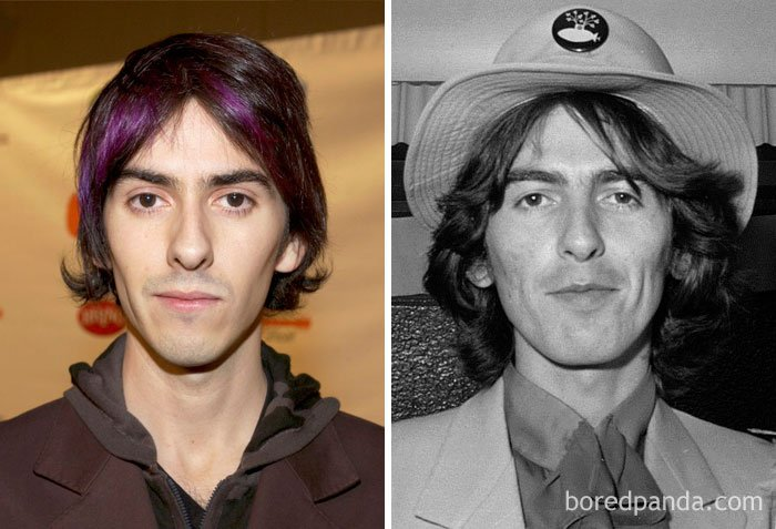 Dhani Harrison And George Harrison In Their 20s