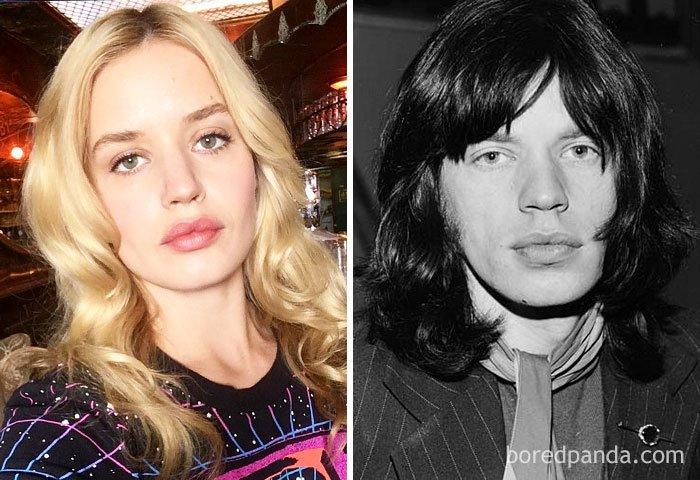 Georgia May Jagger And Mick Jagger At Age 25