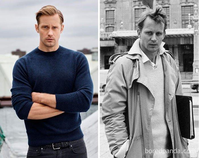 Alexander Skarsgård And Stellan Skarsgård At Their 30s