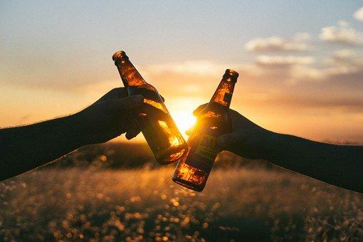 건배, 마실 것, 술을 마시는, 루트 맥주, 좋은 시간, 축하, 인식