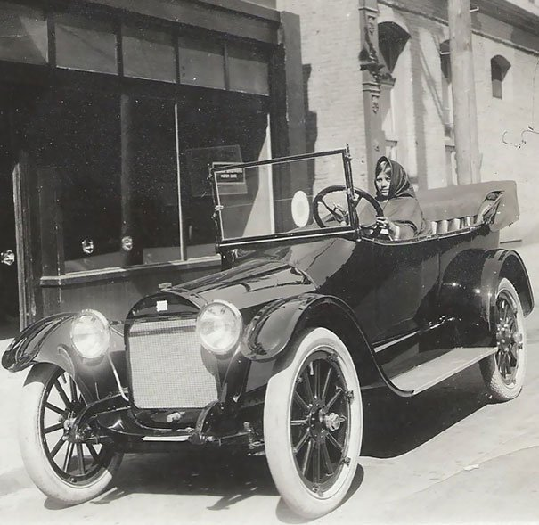 My Great-Grandmother In Her New Car. She Was Most Likely The First Indian Woman In The Western US To Own A Car (April 7, 1916)