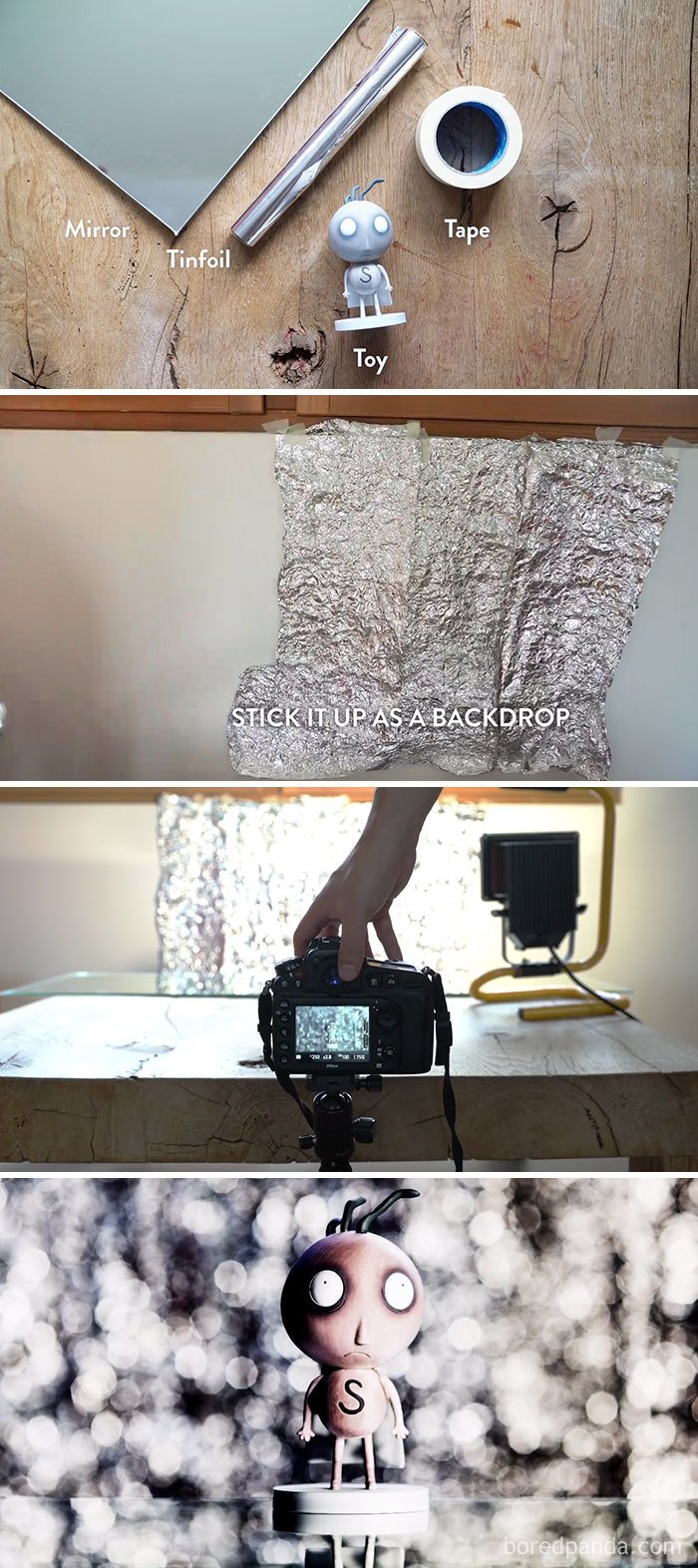 Use Tinfoil To Create A Wall Of Bokeh
