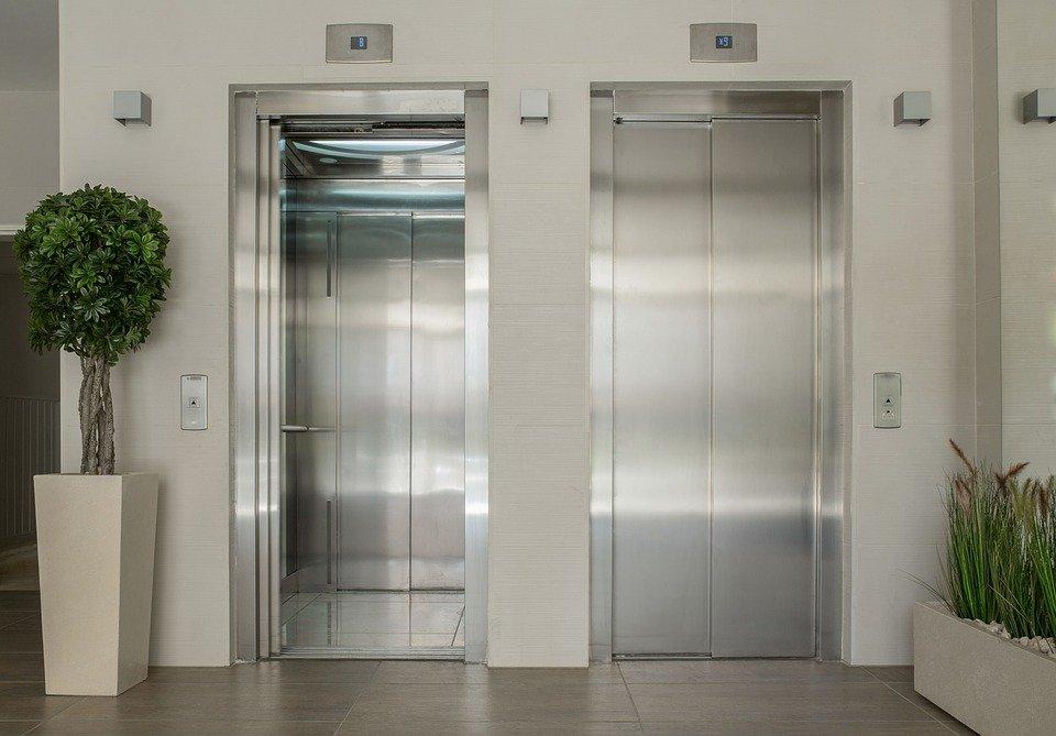 엘리베이터, 로비, 입구, 새로운 건물, 내부, 인테리어 디자인, 갱신, 수리