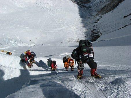 에베레스트 산, 산맥, 겨울, 눈, 얼음, 얼굴, 절벽, 산악 등반