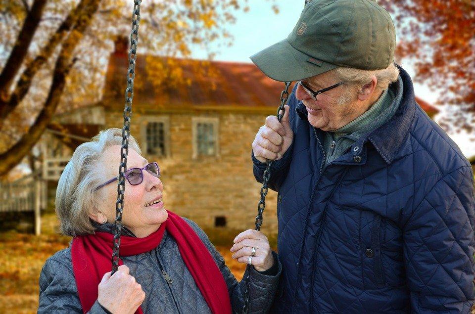 노인, 두, 함께, 연결, 록, Oma의 Opa 및, 삶의 기쁨, 배우자, 낡아지다