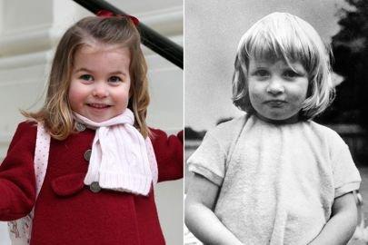 princess diana charlotte glamour 10jan18 getty l - Les fans de la famille royale remarquent une ressemblance incroyable entre la petite princesse Charlotte et sa grand-mère, Diana