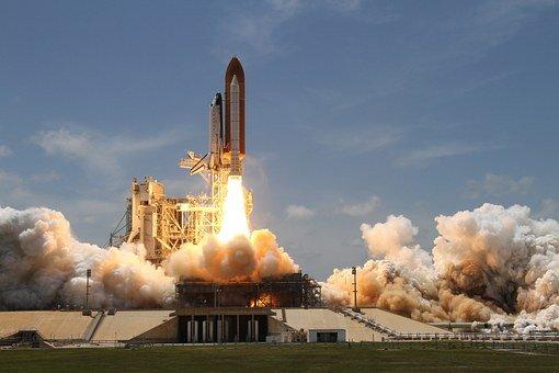 로켓 발사, 연기, 로켓, 이륙, 측면 보기, Nasa, 우주 여행
