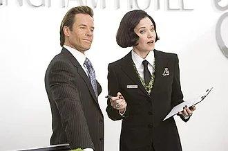 Lucy Lawless y Guy Pierce