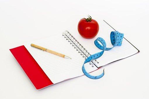 테이프, 공지 사항, 펜, 다이어트, 지방, 건강, 중량, 건강 한