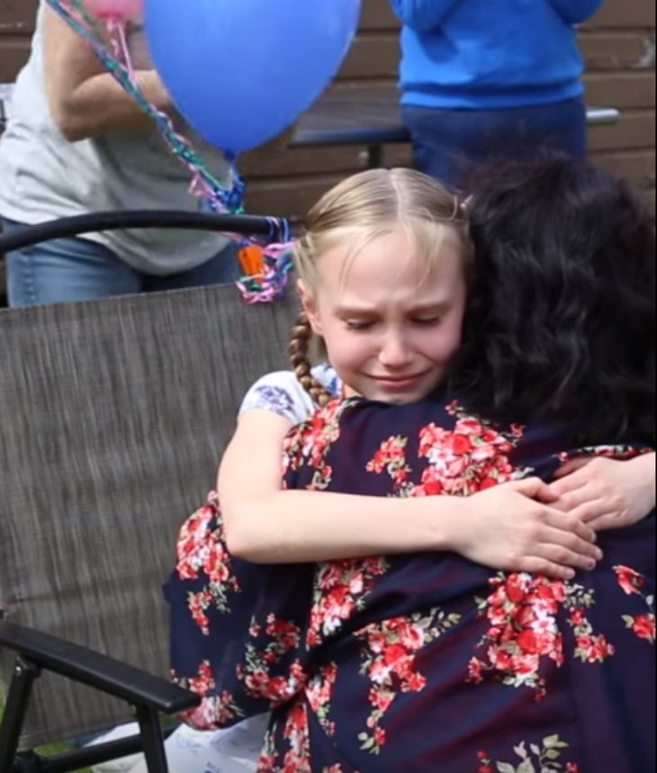 adoptionhug2 - Stepmother Hands Girl A Gift-bag At Her Birthday Party... Inside The Box, There Were A Set Of Legal Papers