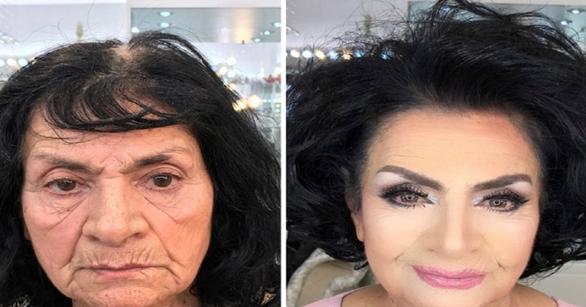 anar2 1.jpg?resize=574,582 - Talented Makeup Artist Makes Clients Look Decades Younger And Proves The Power Of Makeup