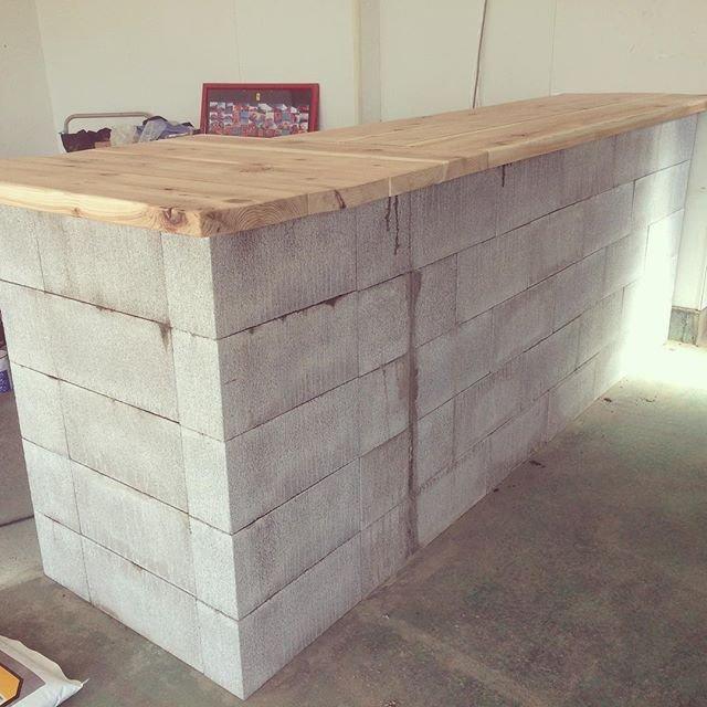 カウンターテーブル,diy コンクリートブロック에 대한 이미지 검색결과