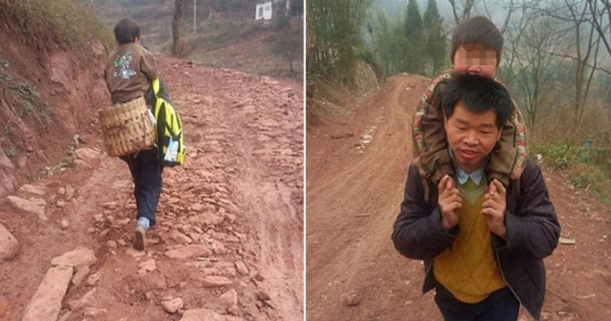 b 5 - 장애를 가진 아들을 업고 '매일 29km를 걸은' 아빠의 사연…