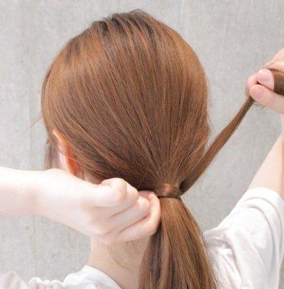 can immediately manage 18 ponytail hair arrangements 03 5 400x408 - 即マネできる!ポニーテールのヘアアレンジ18選