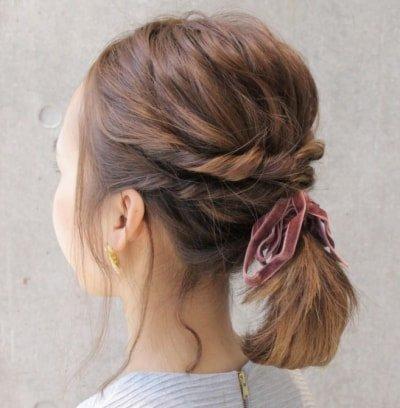 can immediately manage 18 ponytail hair arrangements 07 1 400x408 - 即マネできる!ポニーテールのヘアアレンジ18選