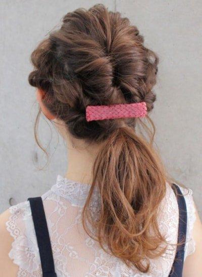 can immediately manage 18 ponytail hair arrangements 13 1 400x547 - 即マネできる!ポニーテールのヘアアレンジ18選