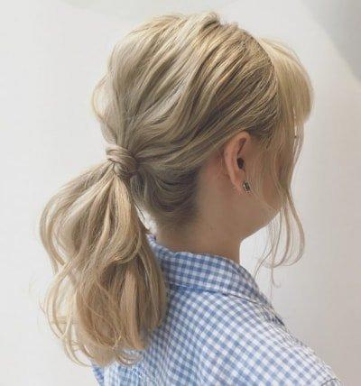 can immediately manage 18 ponytail hair arrangements 15 1 400x428 - 即マネできる!ポニーテールのヘアアレンジ18選