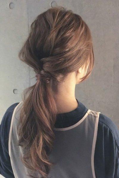 can immediately manage 18 ponytail hair arrangements 20 400x600 - 即マネできる!ポニーテールのヘアアレンジ18選