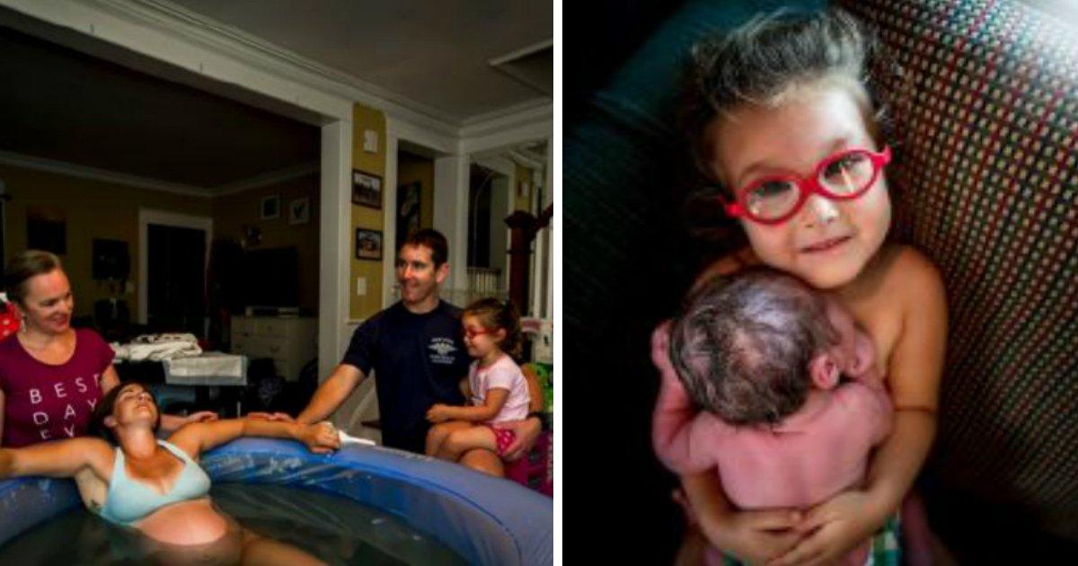 casabebe 1 - Garotinha de três anos ajuda no parto do irmão e o primeiro encontro com ele gera comoção
