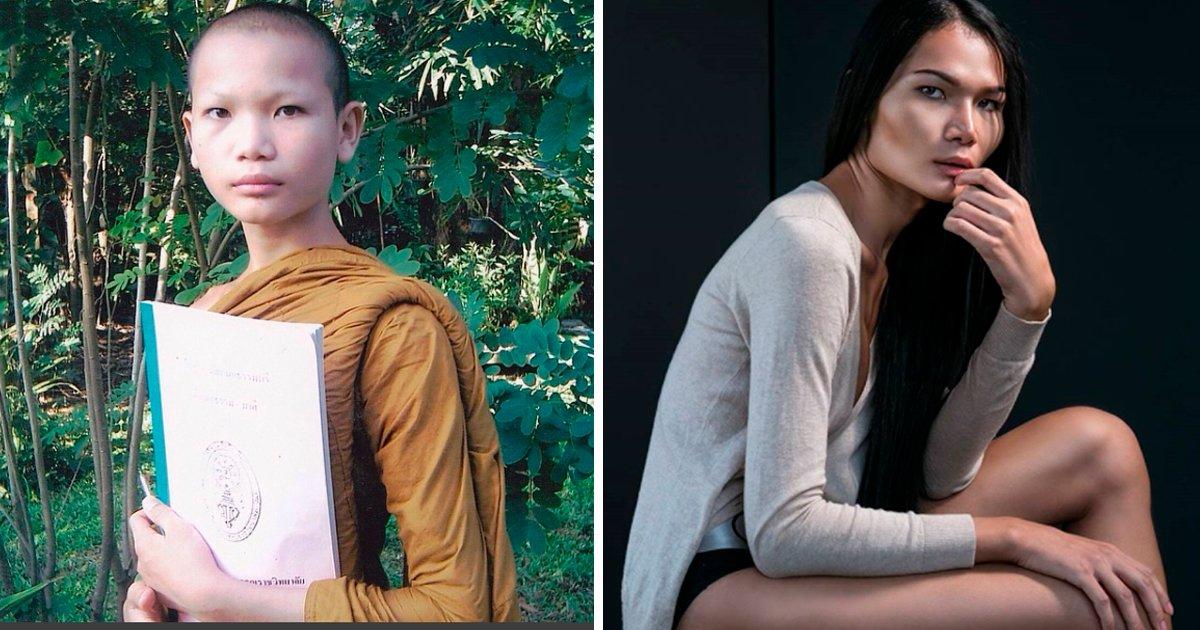 cove 1.jpg?resize=1200,630 - Antes de convertirse en mujer era un monje budista, ahora es una exitosa modelo en Tailandia