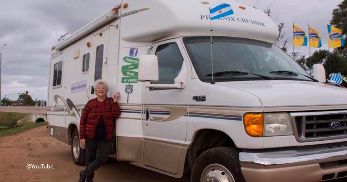 covedr5.jpg?resize=1200,630 - Una mujer de 80 años cumplió su sueño de vivir una aventura y dejó toda su vida atrás