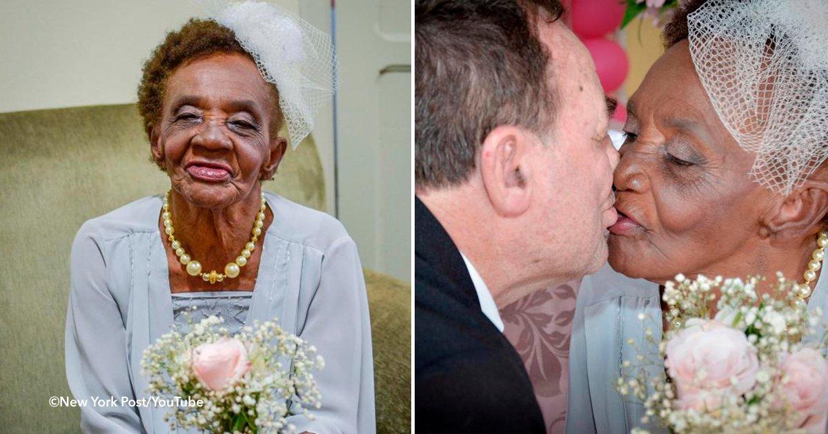 cover 3 - Se casó a los 106 años y es la novia más grande del mundo, el novio está completamente enamorado
