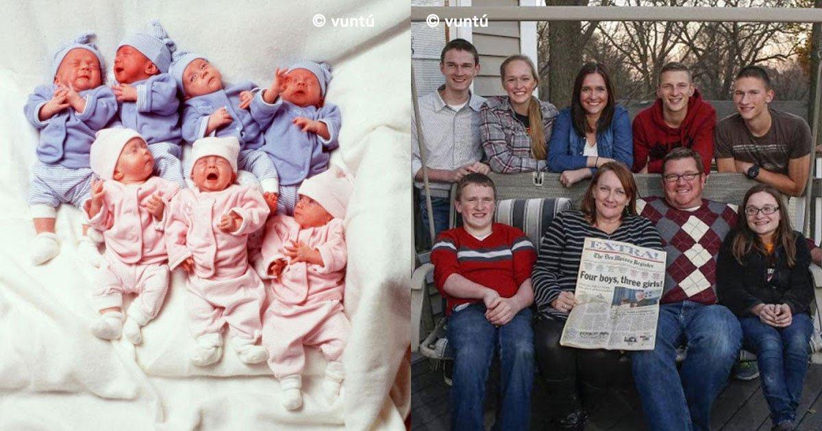 cover 48 - Una mujer tuvo septillizos, su esposo la abandonó. ¡Y Así lucen 20 años después!