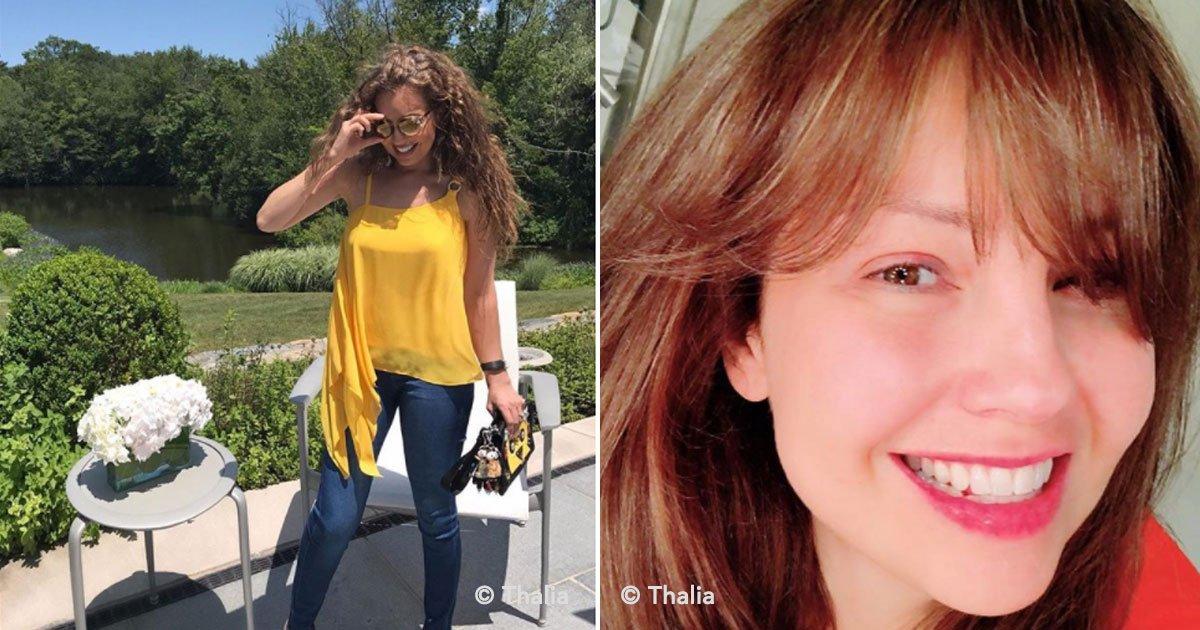 cover 68 - Se hacen virales fotografías de Thalía sin maquillaje, ni filtros y ¡luce espectacular!