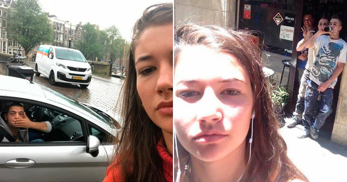 cover 88.jpg?resize=1200,630 - Harta de los desagradables piropos que le hacían los hombres en la calle, decidió hacerse selfies con ellos, los resultados son increíbles