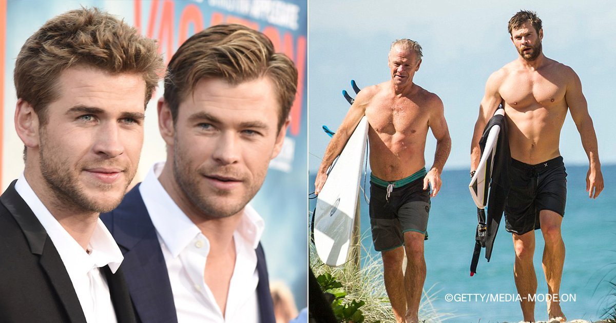 cover3.png?resize=412,232 - Los Hermanos Hemsworth Mostraron A Su Papá En Instagram. ¡Ya Entendemos Por Qué Son Tan Atractivos!