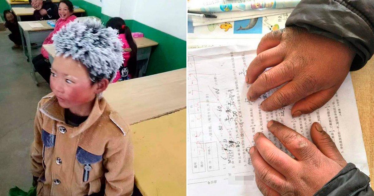 cover56 2 - Un pequeño en China llega a clases con la cabeza congelada, lo que hizo su maestro fue increíble