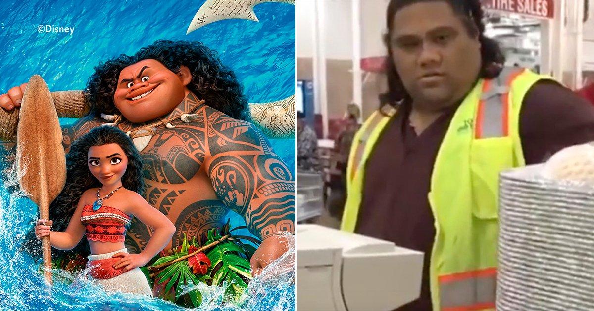 "cover6 2.png?resize=1200,630 - Se encuentran en un supermercado dos niñas al mismísimo ""Maui"" de la película ""Moana"" en Hawái."