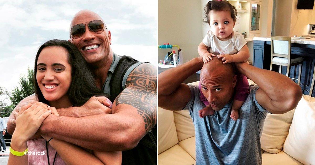 La roca es muy conocido como actor luchador pero su for Familia roca