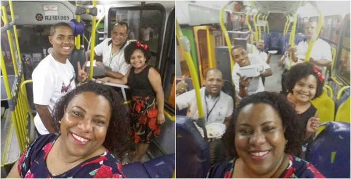 cristiane - Família passa Reveillon em ônibus junto com o pai