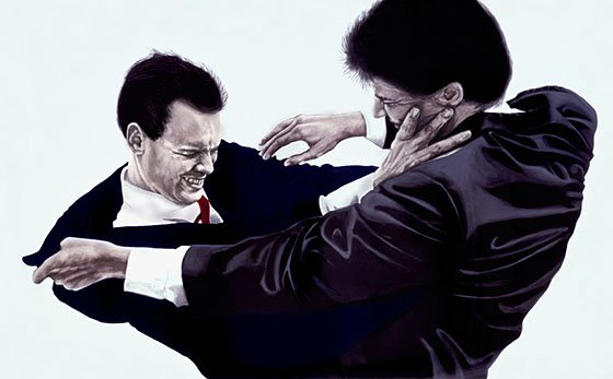 Robert Longo Men Fighting