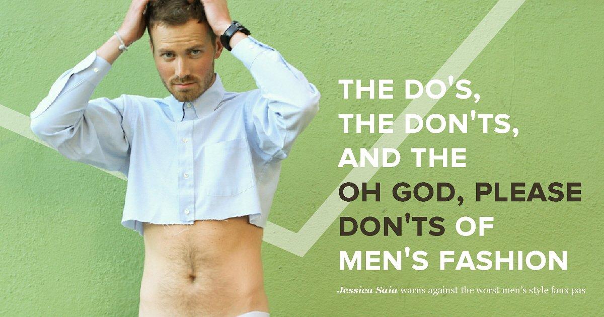 doanddonthero - 남성 패션에서 '해도 되는 것, 하면 안 되는 것, 절대 해서는 안 되는 것' (사진 6장)