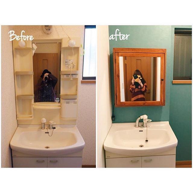 洗面台 鏡 DIY에 대한 이미지 검색결과