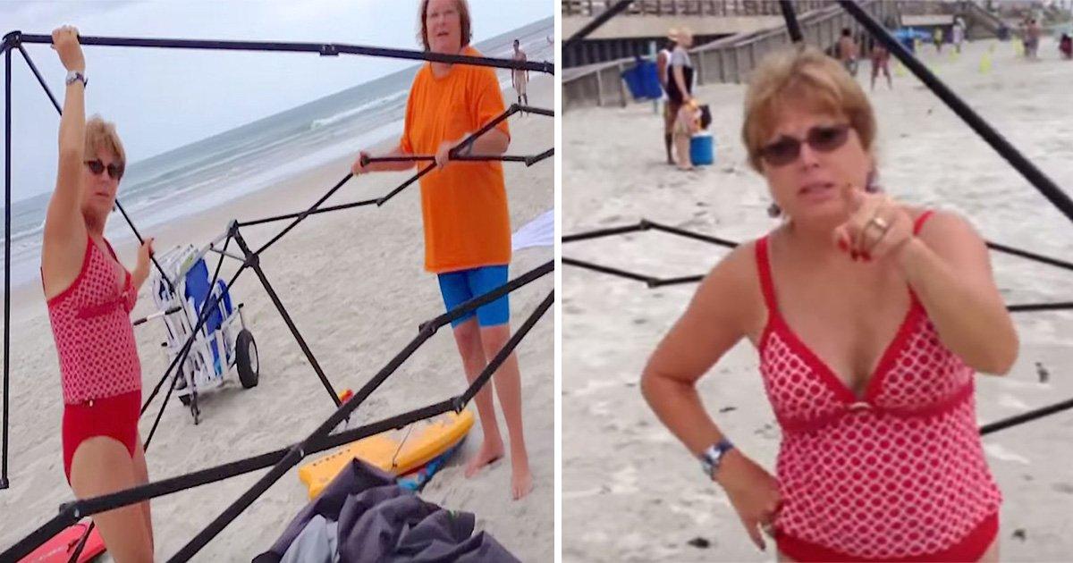 ec8db8eb84ac1.jpg?resize=636,358 - A forma inteligente como um pai confronta duas ladras que tentaram roubar sua barraca de praia!