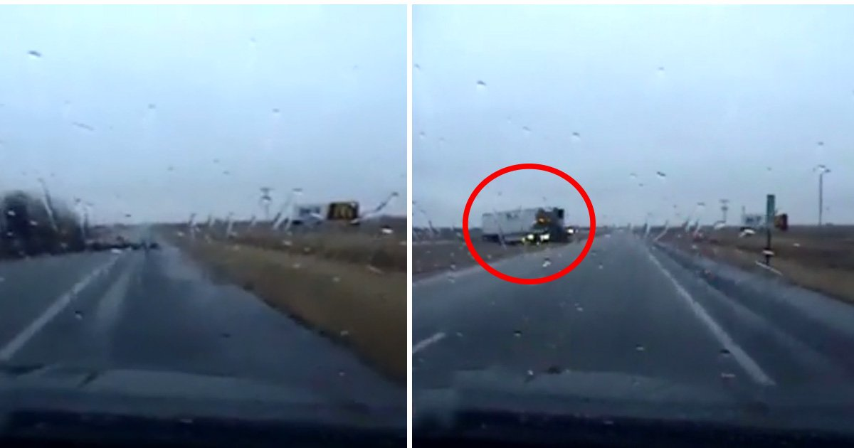 ec8db8eb84ac14 6 - Camera Captures Moment Trooper Narrowly Misses Getting Slammed Into By Huge Heavy Truck