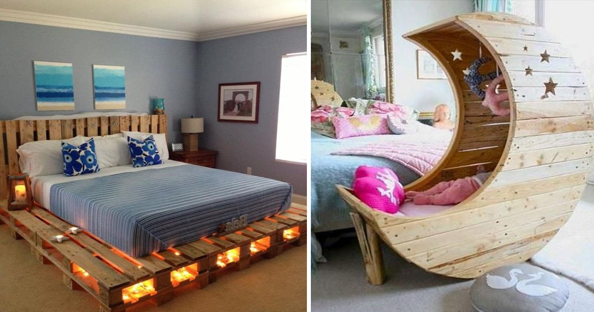 16 wooden pallet bed frame ideas to make your bedroom more - Bed frames for small rooms ...